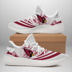 NFL Arizona Cardinals Yeezy Boost White Sneakers V2
