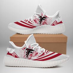 NFL Atlanta Falcons Yeezy Boost White Sneakers V2