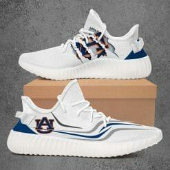 NCAA Auburn Tigers Yeezy Boost White Sneakers V3