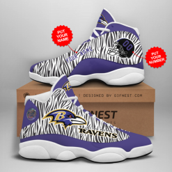 NFL Baltimore Ravens Air Jordan 13 Shoes Personalized V5