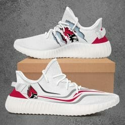 NCAA Ball State Cardinals Yeezy Boost White Sneakers V3