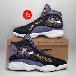 NFL Baltimore Ravens Air Jordan 13 Shoes Personalized V2