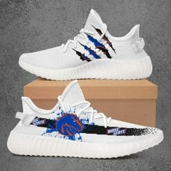 NCAA Boise State Broncos Yeezy Boost White Sneakers V1