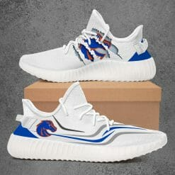 NCAA Boise State Broncos Yeezy Boost White Sneakers V3