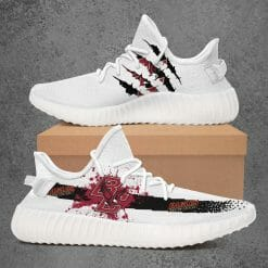 NCAA Boston College Eagles Yeezy Boost White Sneakers V1
