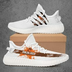 NCAA Bowling Green Falcons Yeezy Boost White Sneakers V1