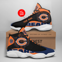 NFL Chicago Bears Air Jordan 13 Shoes Personalized V4