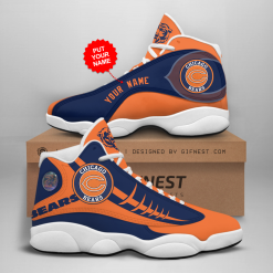NFL Chicago Bears Air Jordan 13 Shoes Personalized V1
