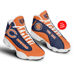 NFL Chicago Bears Air Jordan 13 Shoes Personalized V3