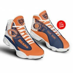NFL Chicago Bears Air Jordan 13 Shoes Personalized V5