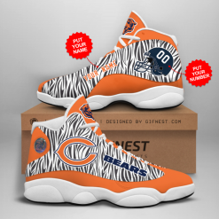 NFL Chicago Bears Air Jordan 13 Shoes Personalized V2