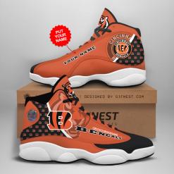 NFL Cincinnati Bengals Air Jordan 13 Shoes Personalized V1