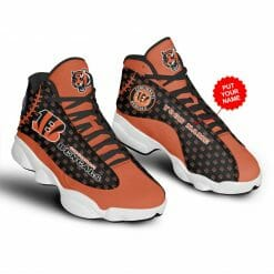 NFL Cincinnati Bengals Air Jordan 13 Shoes Personalized V3