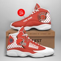 NFL Cleveland Browns Air Jordan 13 Shoes Personalized V1