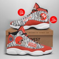 NFL Cleveland Browns Air Jordan 13 Shoes Personalized V2