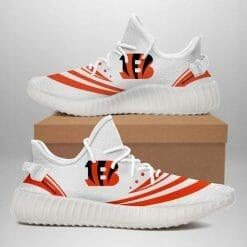 NFL Cincinnati Bengals Yeezy Boost White Sneakers V2