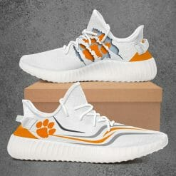 NCAA Clemson Tigers Yeezy Boost White Sneakers V3