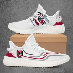 NCAA Colgate Raiders Yeezy Boost White Sneakers V3