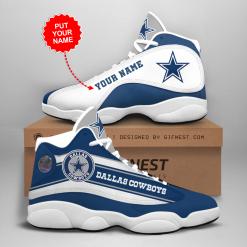 NFL Dallas Cowboys Air Jordan 13 Shoes Personalized V5