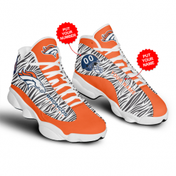 NFL Denver Broncos Air Jordan 13 Shoes Personalized V2