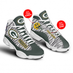 NFL Green Bay Packers Air Jordan 13 Shoes Personalized V6