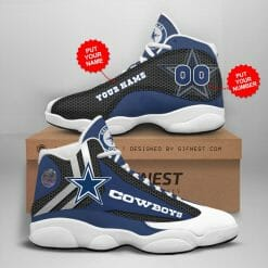 NFL Dallas Cowboys Air Jordan 13 Shoes Personalized V9