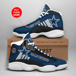 NFL Dallas Cowboys Air Jordan 13 Shoes Personalized V3