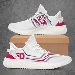 NCAA Dayton Flyers Yeezy Boost White Sneakers V3