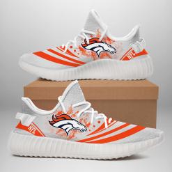 NFL Denver Broncos Yeezy Boost White Sneakers V2