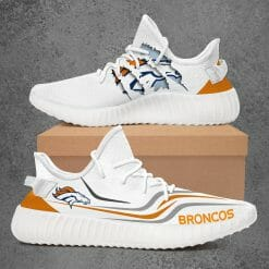 NFL Denver Broncos Yeezy Boost White Sneakers V3