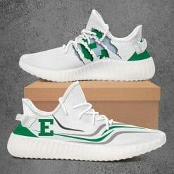 NCAA Eastern Michigan Eagles Yeezy Boost White Sneakers V3