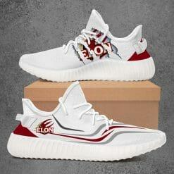NCAA Elon Phoenix Yeezy Boost White Sneakers V3