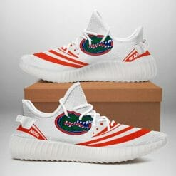 NCAA Florida Gators Yeezy Boost White Sneakers V2