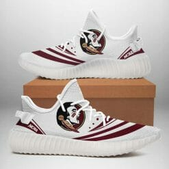 NCAA Florida State Seminoles Yeezy Boost White Sneakers V2