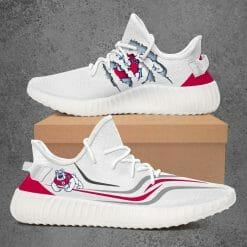NCAA Fresno State Bulldogs Yeezy Boost White Sneakers V3