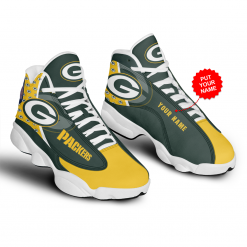 NFL Green Bay Packers Air Jordan 13 Shoes Personalized V4