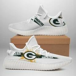 NFL Green Bay Packers Yeezy Boost White Sneakers V1