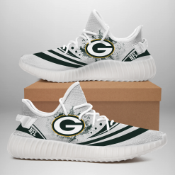 NFL Green Bay Packers Yeezy Boost White Sneakers V2