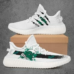 NCAA Green Wave Yeezy Boost White Sneakers V1
