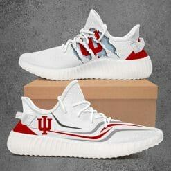 NCAA Indiana Hoosiers Yeezy Boost White Sneakers V3