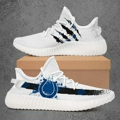 NFL Indianapolis Colts Yeezy Boost White Sneakers V1