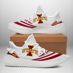 NCAA Iowa State Cyclones Yeezy Boost White Sneakers V2