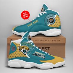 NFL Jacksonville Jaguars Air Jordan 13 Shoes Personalized V1