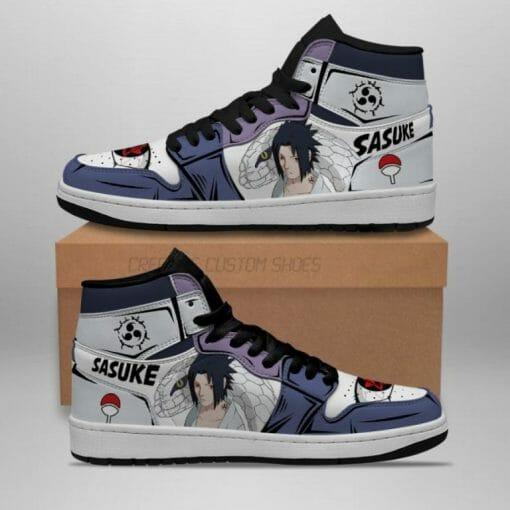 Naruto Anime Sasuke Uchiha Air Jordan 1 Shoes V1