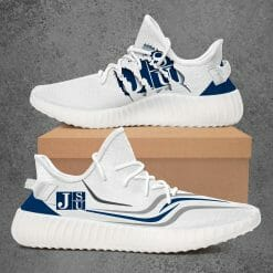 NCAA Jackson State Tigers Yeezy Boost White Sneakers V3