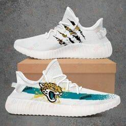 NFL Jacksonville Jaguars Yeezy Boost White Sneakers V1