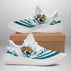 NFL Jacksonville Jaguars Yeezy Boost White Sneakers V2