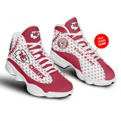 NFL Kansas City Chiefs Air Jordan 13 Shoes Personalized V4