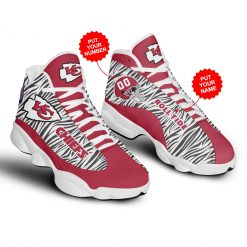 NFL Kansas City Chiefs Air Jordan 13 Shoes Personalized V3