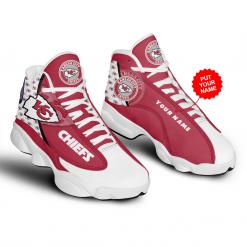 NFL Kansas City Chiefs Air Jordan 13 Shoes Personalized V2